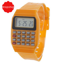 Unsex Silicone 2018 New Casual Fashion Sport Watch For Men Kids Electronic Multifunction Calculator Watch Jelly Digital Watch