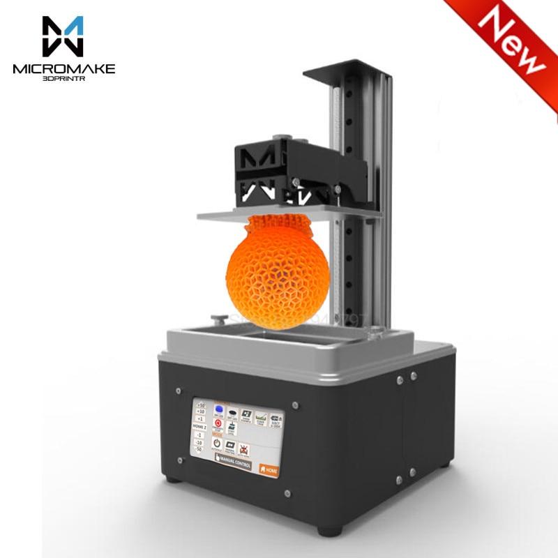 Micromake L3 UV-LED Lumière-Durcissement 405nm résine wifi DLP 3d imprimante Auto-Trancheuse Vitesse 4.3 ''tactile écran sla dlp Impresora cadeau