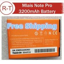 Mlais Note Pro Battery 3200mah large capacity li-battery for Mlais Note Pro Android Phone Free shipping
