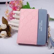 Кожаный маленький кошелек для женщин, роскошный бренд, известные мини женские кошельки, кошельки, женские короткие Портмоне на молнии, кошелек, кредитный держатель для карт