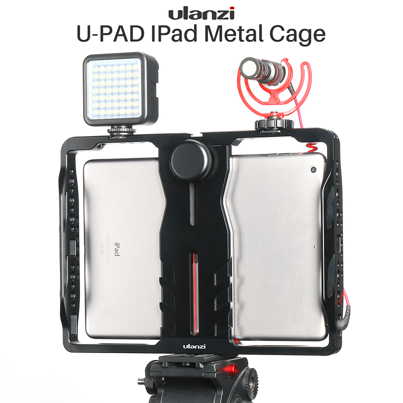 Ulanzi U Pad Metal Pad Mount Filmmaking Rig for iPad Pro Air Mini with Cold Shoe