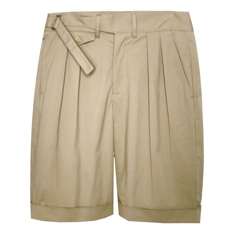 Vintage Armee Khaki Gurkha Shorts Mens Chino Militär Bermuda Kurze Sommer falten lose beiläufige männlichen armee Shorts-in Shorts aus Herrenbekleidung bei  Gruppe 1