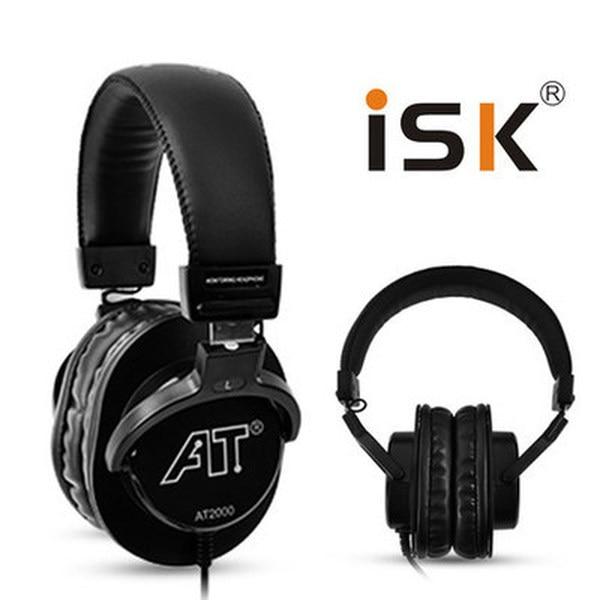 ISK AT2000/AT 2000 Adjustable headband Monitor Headphones for Audio mixing recording DJ monitor,AT2000/AT 2000 180 Degree swivel
