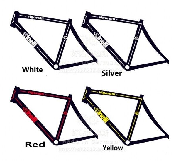 Blanc brillant GT Bicyclette Cadre Décalque Autocollant Set VTT//vélo de route