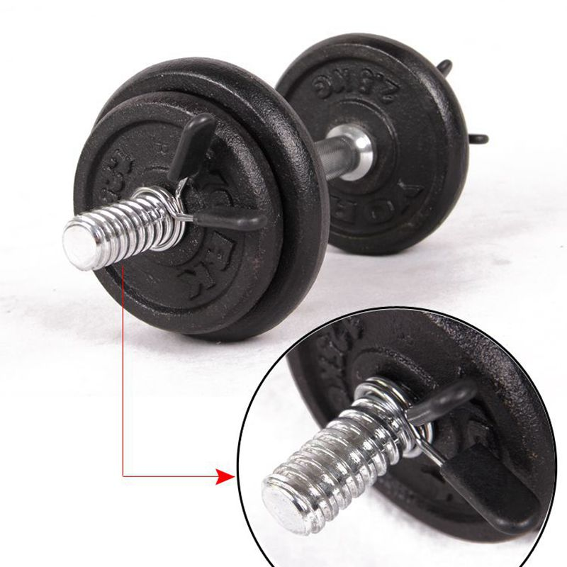 1 Piece 25 28 30 mm Barbell Clamp Spring Collar Clips Gym Weight Dumbbell Lock Standard