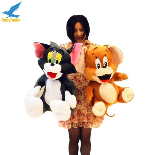 Fancytrader 2 pcs 26\'\' 65cm Big Plush Soft Cute Stuffed Giant Tom and Jerry Toy, Great Gift For Kids FT50217 (1)