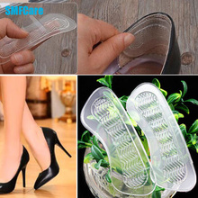 1Pair Rearfoot Invisible Silica Gel Anti-Slip High Heel Shoes Cushions Gel Heel Back liner Dance Shoes Silicone Insoles Z05701
