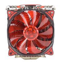 ALLOYSEED 5xHeatpipes LED CPU Dual Cooler Fan Rifle Bearing Mute Heatsink Radiator For Intel LGA775 For AMD Socket AM2/AM2+/AM3