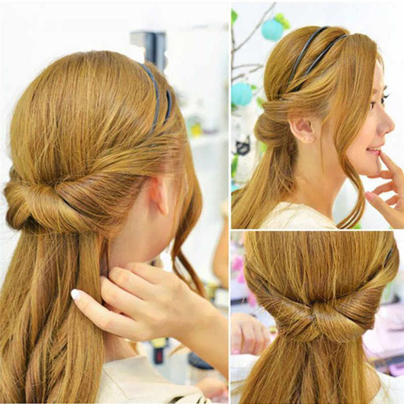 Double Root Hair Hoop Head Band Adjusted Multivariant Hair Clips Head Hoop Elastic Hair Clips With Changeable Fast hairstyle