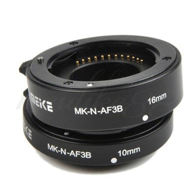 Майке MK-N-AF3B Автофокус AF Макрос Удлинитель Набор 10 мм 16 мм для Nikon DSLR Бесплатная Доставка
