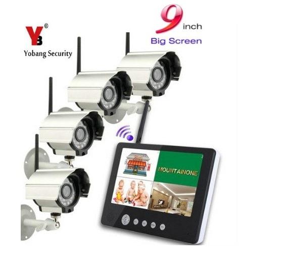 YobangSecurity 4 Camera 9Inch DVR 2.4GHz Wireless Audio Video Baby Monitor 4CH CCTV DVR NVR Security Camera Surveillance SystemYobangSecurity 4 Camera 9Inch DVR 2.4GHz Wireless Audio Video Baby Monitor 4CH CCTV DVR NVR Security Camera Surveillance System