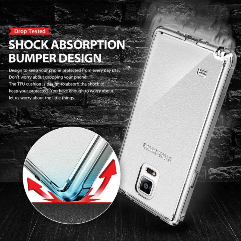imágenes para Ringke Fusión Carcasas para Galaxy Note 4 Cristalinas Vista Trasera y Marco Flexible de TPU Caso Nota4 N 910 Caso