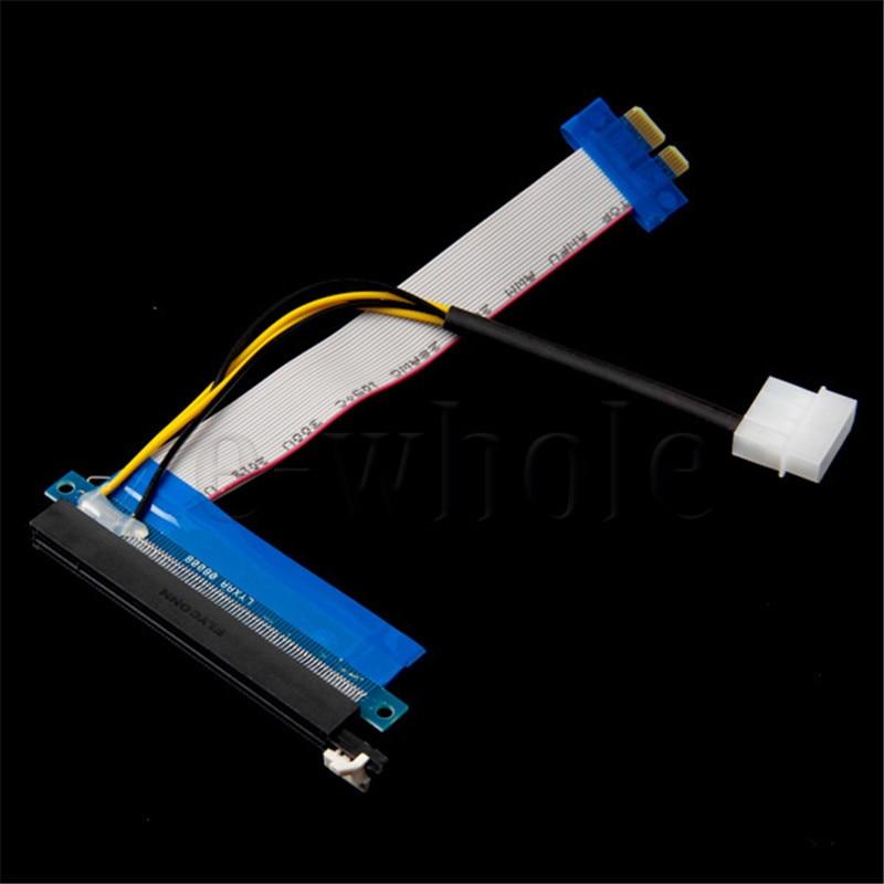 Unterhaltungselektronik Gastfreundlich Mllse Pci-e Verlängerungskabel Band 1x Zu 16x Riser-karten-adapter Power Molex 20 Cm A597 Kabel