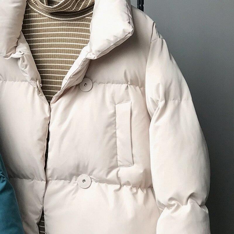 CamKemsey Thicken Women Parkas 18 New Casual Turtleneck Loose Down Jacket Female Warm Cotton Padded Winter Coat Women 19