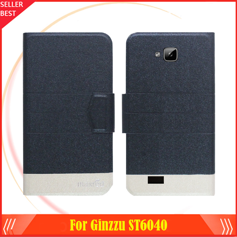 5 Colors Factory Direct!! Ginzzu <font><b>ST6040</b></font> Case Luxury Leather Anti-slid 100% Special Phone Fashion Cover Free Shipping image