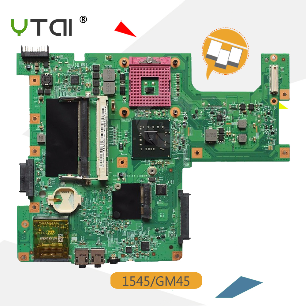 YTAI 1545 GM45 48.4AQ01.021 Mainboard For Dell Inspiron 1545 Laptop Motherboard GM45 DDR2 0G849F 48.4AQ01.021 PGA478MN Mainboard