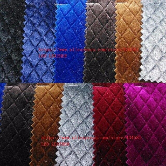 Embossed Plaids Grain Velvet Fabric For Diy Accessories Wallpaper Handbags And Shoes P1240