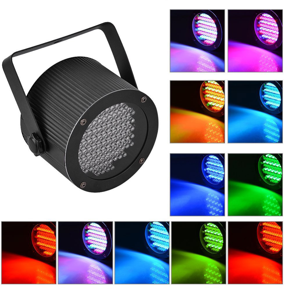 Portable 86 RGB LED Stage Lights Par Party Show DMX-512 Lighting effect Disco Spotlight Projector for Wedding Party Bar Club DJ led rgb wall wash bar light dmx512 night club wedding party disco stage