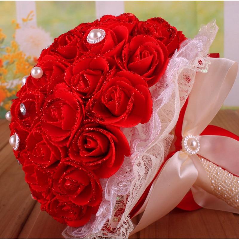 What Are Cheap Flowers For Weddings: Cheap Beautiful Fashion Wedding Bouquet Bridal Bridesmaid