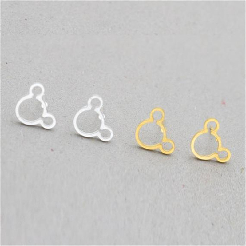Silver or Gold Mickey Earrings - Minimal jewelry Perfect Vacation gift for mother and daughter