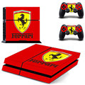 Vinly Skin PS4 Console Designer Skin for Sony PlayStation 4 System plus Two(2) Decals for PS4 Dualshock Controller-For Ferrari