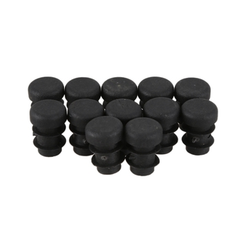 цена на 12 Pcs Plastic 12mm Pipe End Blanking Caps Bung Tube Insert Plug Round Black