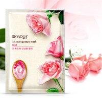 BIOAQUA Rose Facial Mask Smooth Moisturizing Face Mask Oil Control Hydrating Nourishing Shrink Pores Peel Mask
