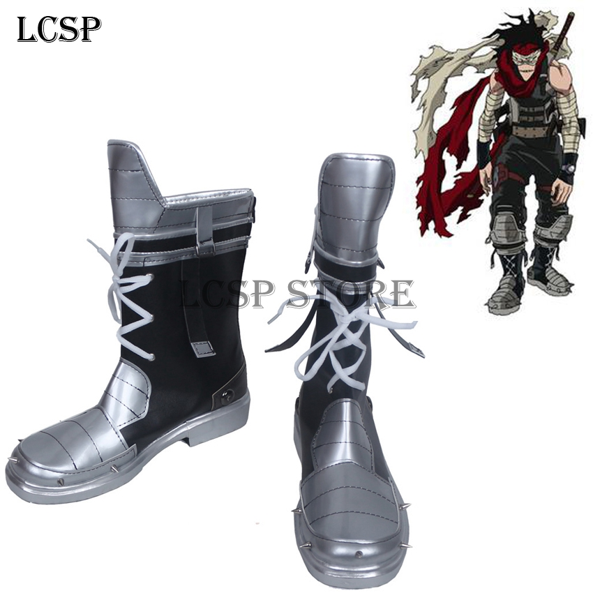 LCSP My Hero Academia Stain Cosplay Boots Japanese Anime Shoes Handmade