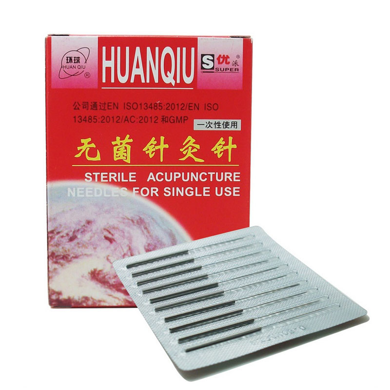 цена на New HuanQiu Disposable Sterile Acupuncture Needle acupuntura ZhenJiu Needle For Single Use 100pcs Per Pack