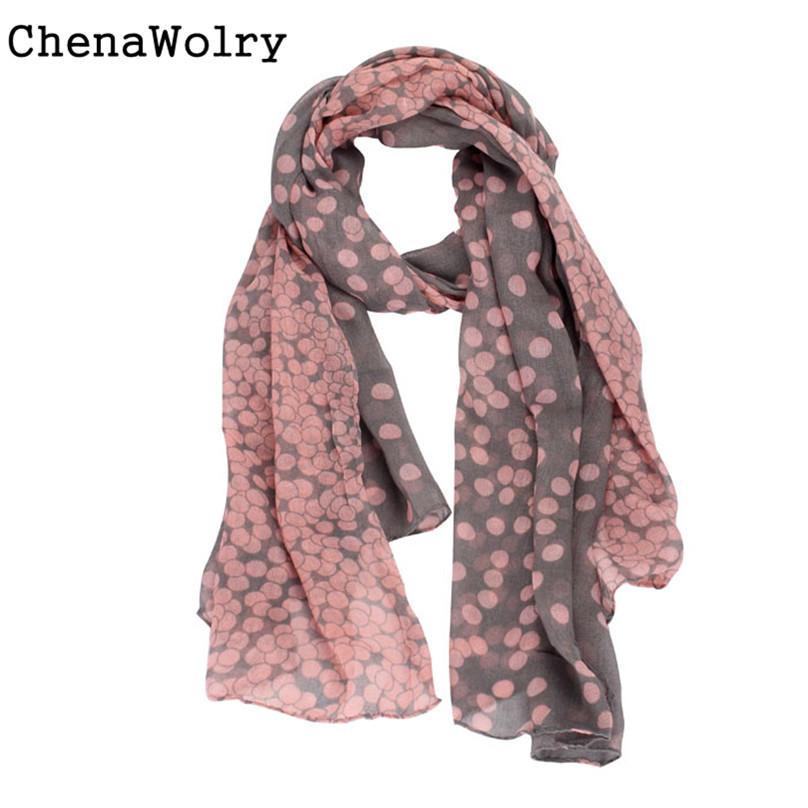 ChenaWolry 1PC 2017 Hot Sales Attractive Luxury New Lady Womens Long Polka Dot   Scarf     Wraps   Shawl Stole Soft   Scarves   #DG8550