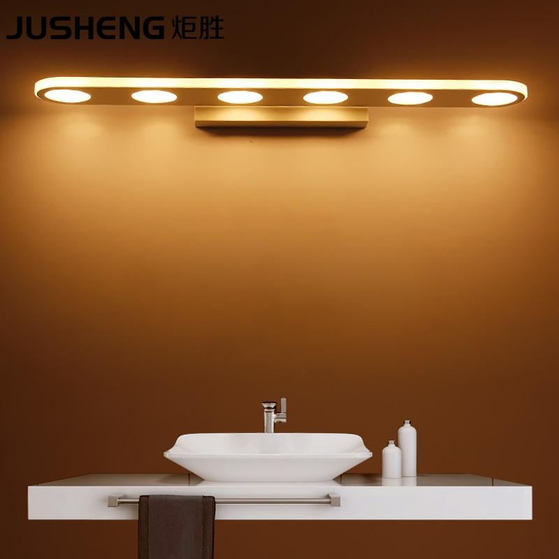 ФОТО JUSHENG Modern 9/1215/18W LED Bathroom Lighting Fixtures Acylic Mirror Wall Sconces 110-240V AC