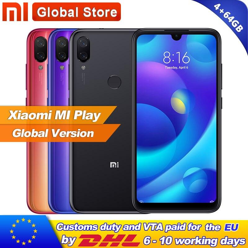 Global Version Xiaomi Mi Play 4GB RAM 64GB ROM Telephone MTK Helio P35 Octa Core Dual