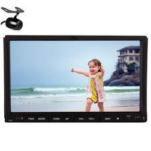 Bluetooth Стерео 7 Дюймов 2 Din Автомобильный Радиоприемник Аудио Системы с Gps-навигации Dvd-плеер Автомобиля В Тире Головное устройство iPod + Резервное Копирование камера