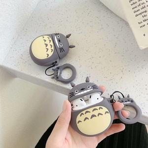 Image 5 - 3D Cute Kawaii Anime Cartoon Totoro Faceless Man Case for Airpods 1 2 No Face Man Wireless Earphone Cover with Finger Ring Strap