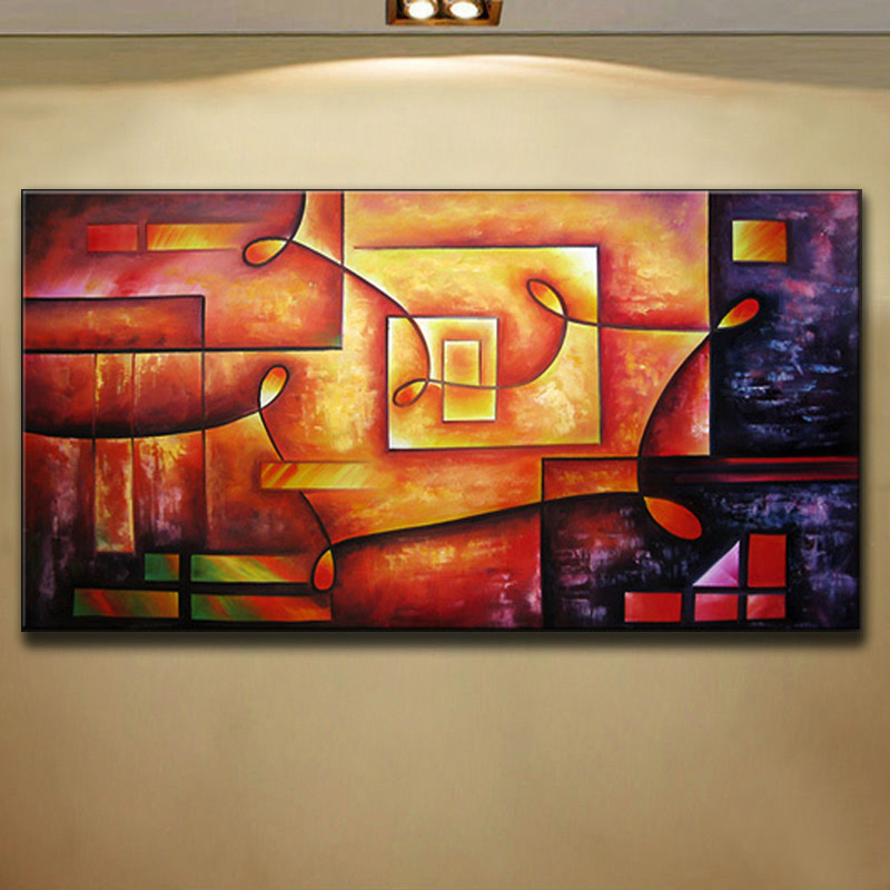 aliexpresscom buy 100hand painted huge abstract wall decor art canvas oil painting passion color high q best selling wholesale price no frame from