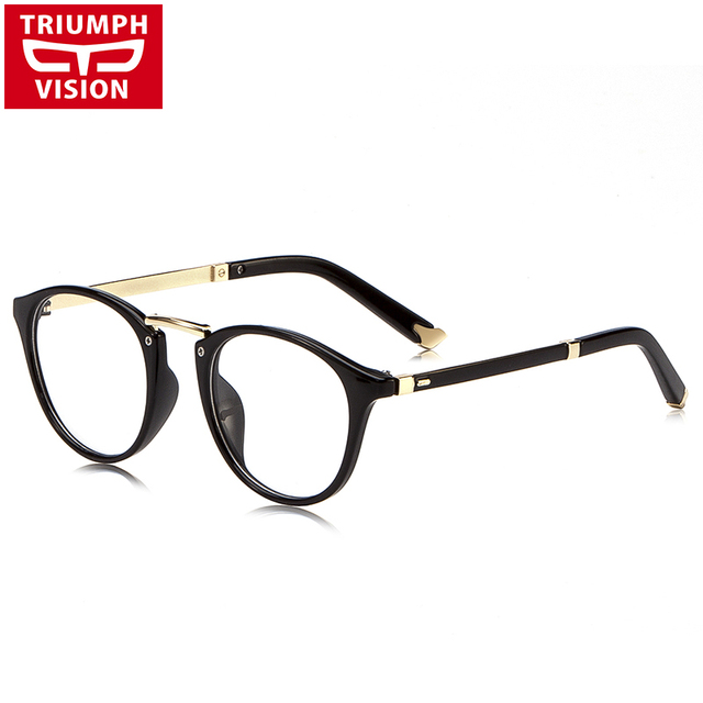 Aliexpress.com : Buy TRIUMPH VISION Black Round Eyeglasses Frames ...