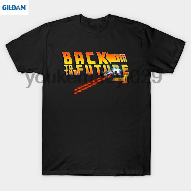 GILDAN Back to the Future 2 out of time T Shirt