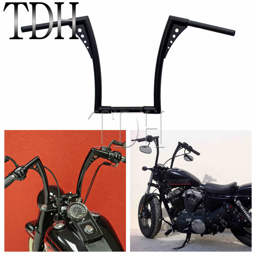 Ape Hangers Bars Fat 1-1//4 14 Rise Handlebars Compatible with Harley Softail Sportster XL XKMT P//N: XKMT-TGHD-HB002-II