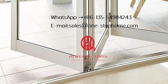 Modern Interior House Main Door Design Aluminium Folding Door, Bi Fold Door Design Exterior Patio Doors