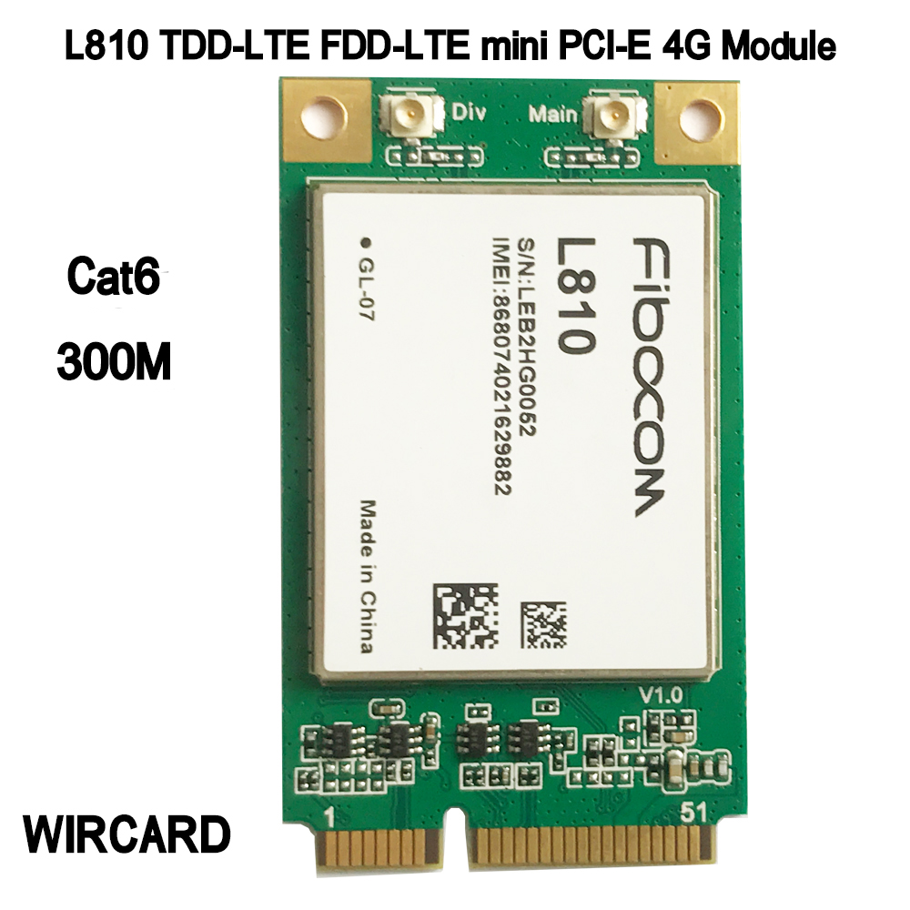 L810 L810-GL LTE 4G Module TDD-LTE FDD-LTE mini PCI-E 4G Card(China)