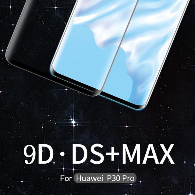 Original NILLKIN สำหรับ Huawei P30 Pro 9D DS + MAX โค้งโค้งเต็มรูปแบบกระจกนิรภัยสำหรับ Huawei Mate 20 pro