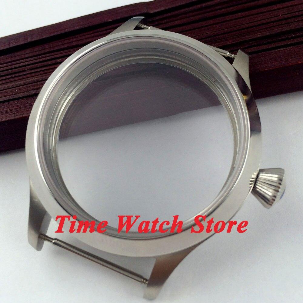 صالح 6497 6498 حركة 45 ملليمتر البصل تاج الياقوت الزجاج إسكان الساعة من الفولاذ المقاوم للصدأ C30-في أوجه الساعات من ساعات اليد على  مجموعة 1