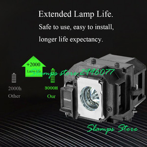Image 2 - High Quality ELPL54 V13H010L54 EB S7 EB S7+ EB S72 EB S8 EB S82 EB X7 EB X72 EB X8 EB X8E EB W7 EB W8 Projector lamp for Epson