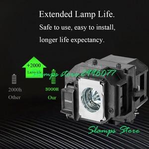 Image 2 - Yüksek Kaliteli ELPL54 V13H010L54 EB S7 EB S7 + EB S72 EB S8 EB S82 EB X7 EB X72 EB X8 EB X8E EB W7 EB W8 için Projektör lambası Epson
