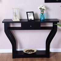 Giantex Accent Console Table Modern Sofa Entryway Hallway Wood Display Desk with Drawer Living Room Furniture HW56636