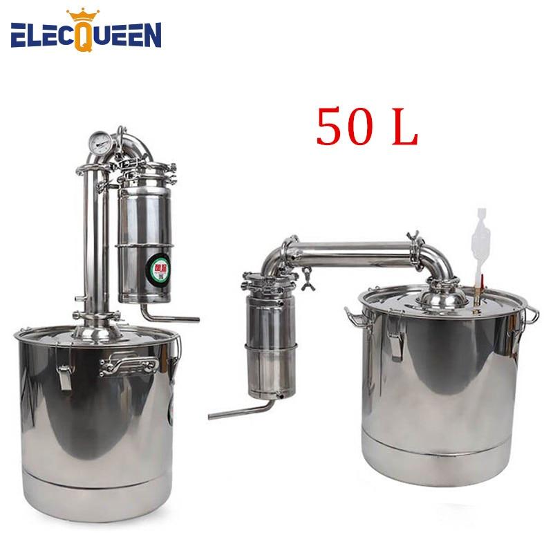Dispositivo de Fermentação Do Vinho Licor Destilador de Álcool Inoxidável 45L Grande Capacidade Espíritos (Álcool) Destilação Fabricante de Vodka Uísque