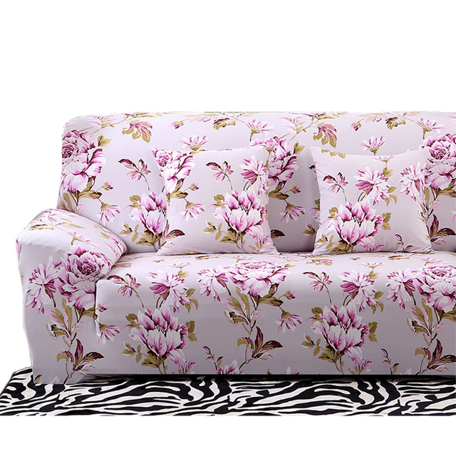 Superieur Floral Printing Stretch Sofa Cover Elastic Couch Cover Loveseat Chair L  Shaped Sofa Case For Living