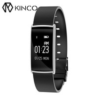 0 96 Inch OLED Bluetooth 4 0 Pedometer Sleep Monitor Health Detection Clock SMS Reminder Remote