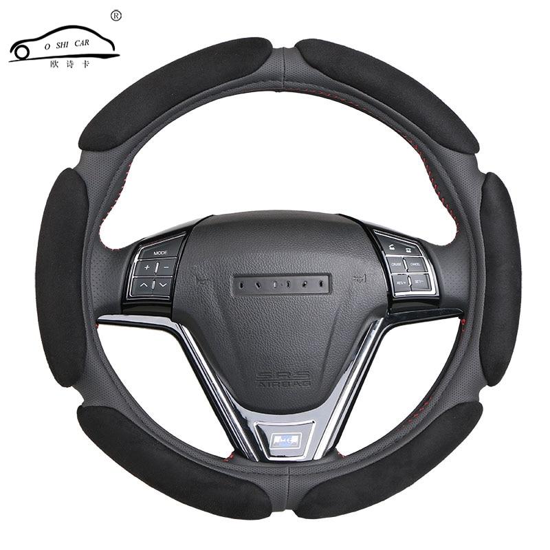 Cobertura de volante antiderrapante com design 3d/reunindo diâmetro de trança de volante clothcar 38 cm para 95% carro