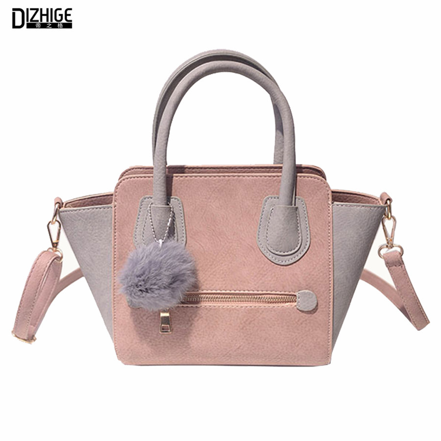 Spring Smiley PU Leather Tote Bag Women Trapeze Fashion Designer Handbags High